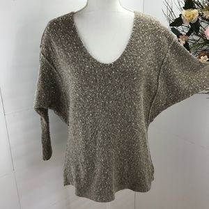 Free people fuzzy wool blend dolman sweater